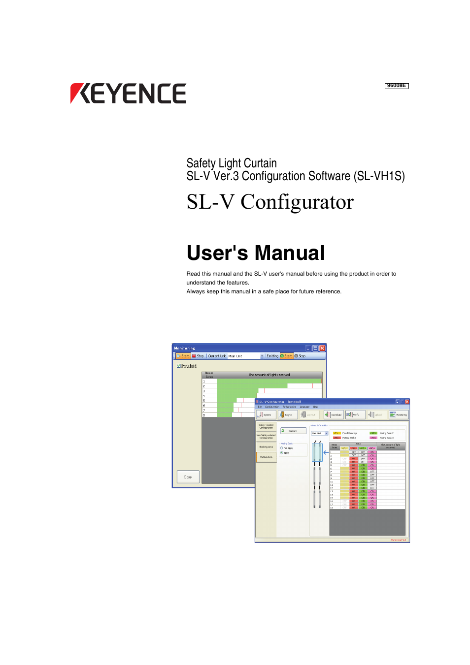 KEYENCE SL-VH1S User Manual | 60 pages