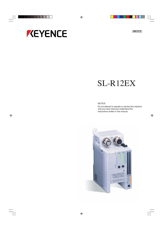 keyence sl r12ex user manual 76 pages. Black Bedroom Furniture Sets. Home Design Ideas