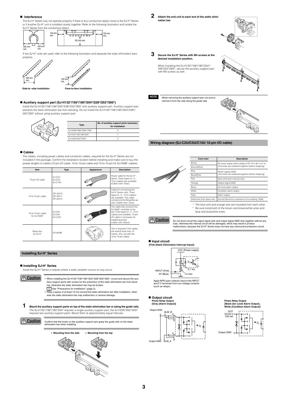 Installing sjh series Wiring diagram sjc2uc5uc10u 10pin i – Keyence Nsor Wire Diagram