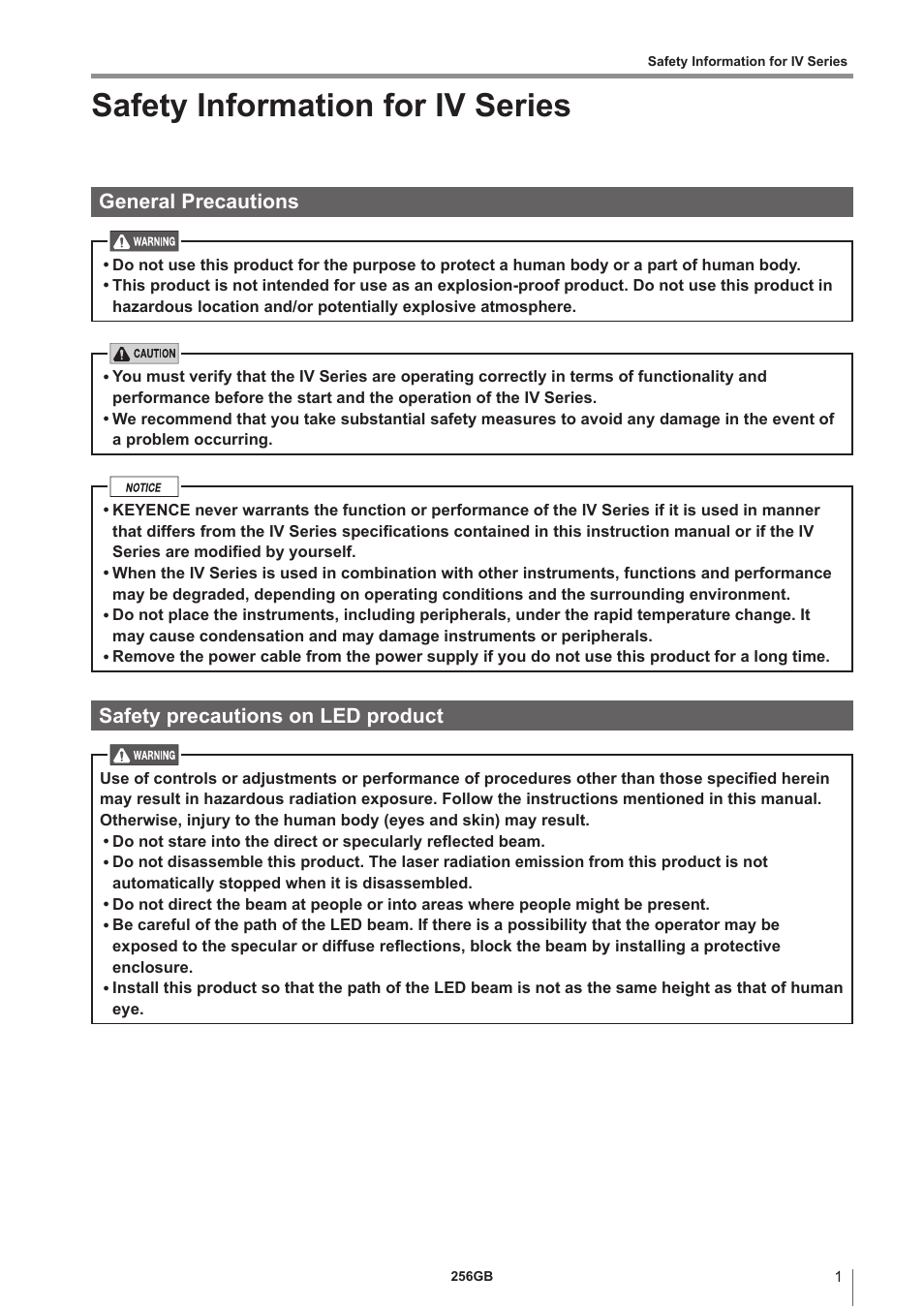 Keyence iv series user manual