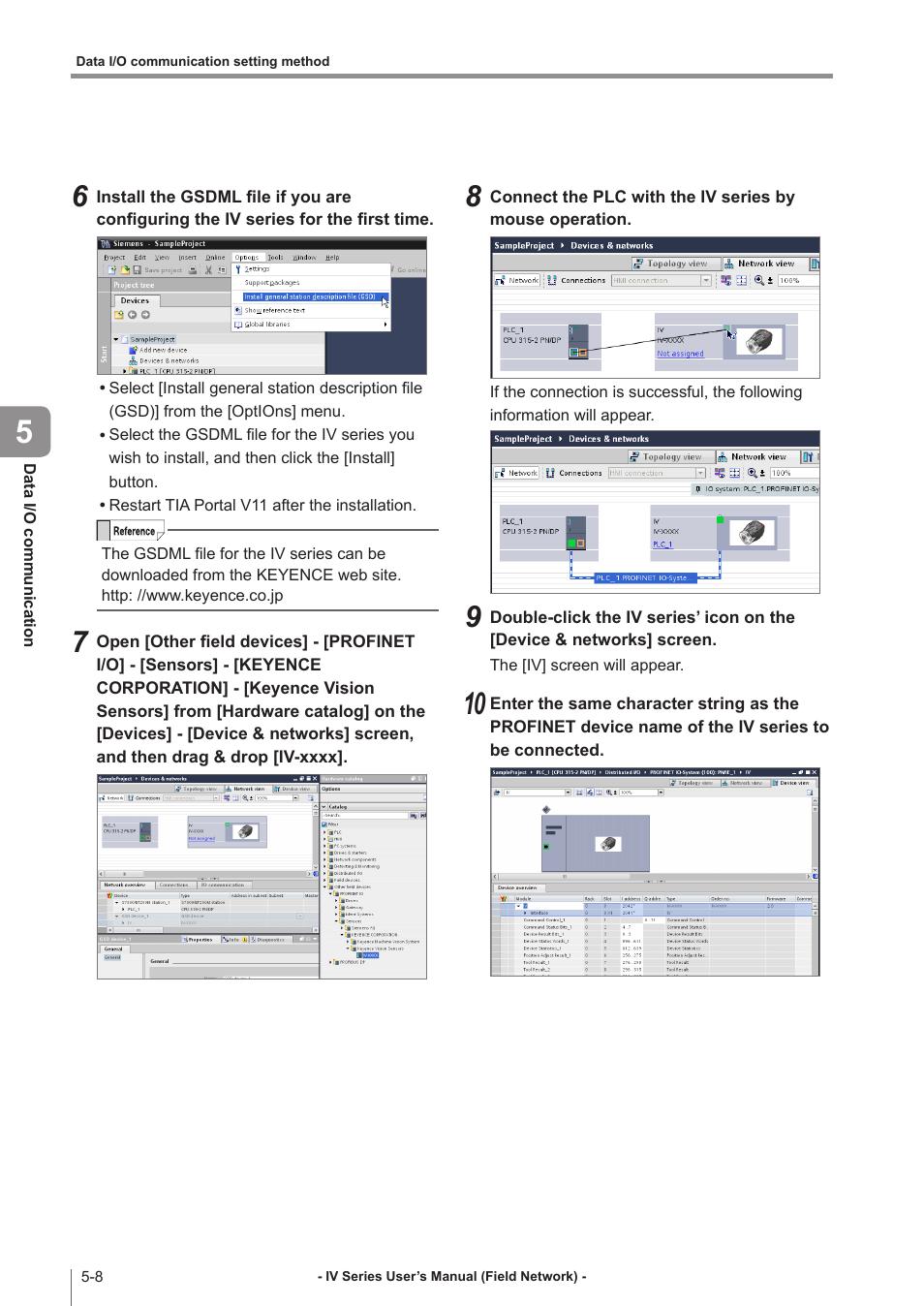 KEYENCE IV Series User Manual | Page 66 / 110