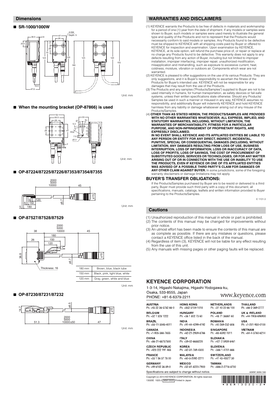 keyence sr 1000 series page6 100 [ 2002 honda 300ex manual ] 2003 honda 400ex wiring diagram KEYENCE SR1000 Mounting at mifinder.co