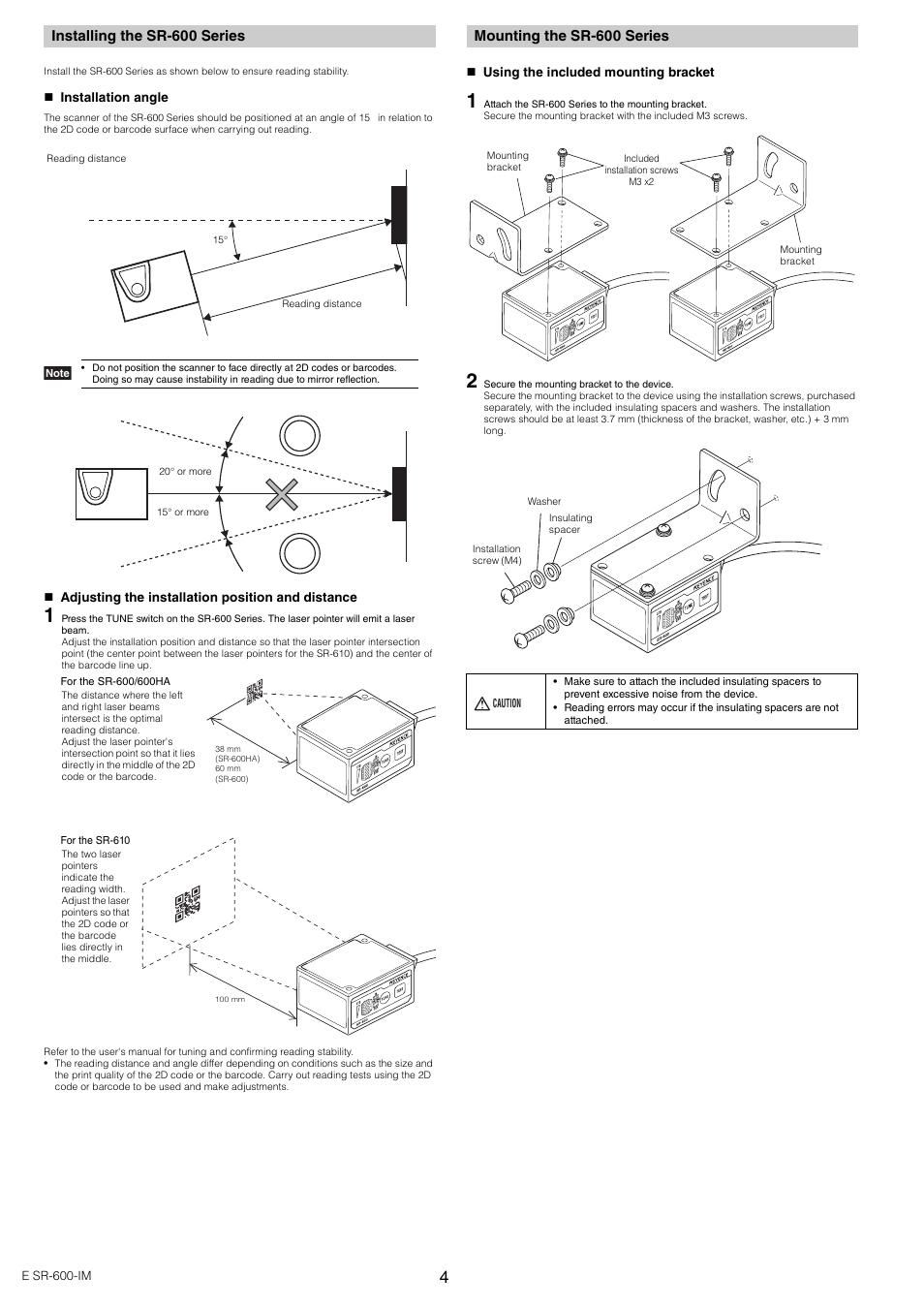 Installing The Sr 600 Series Mounting Keyence Wiring Diagram
