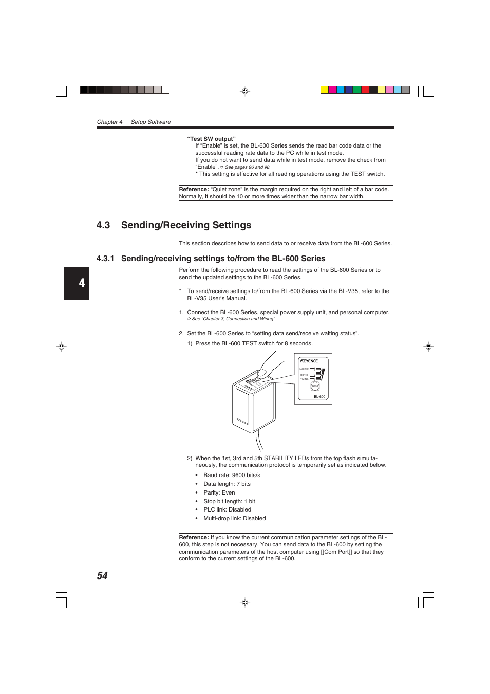 3 Sending Receiving Settings Keyence Bl 600 Series User Manual Wiring Leds In Parallel And Page 64 192