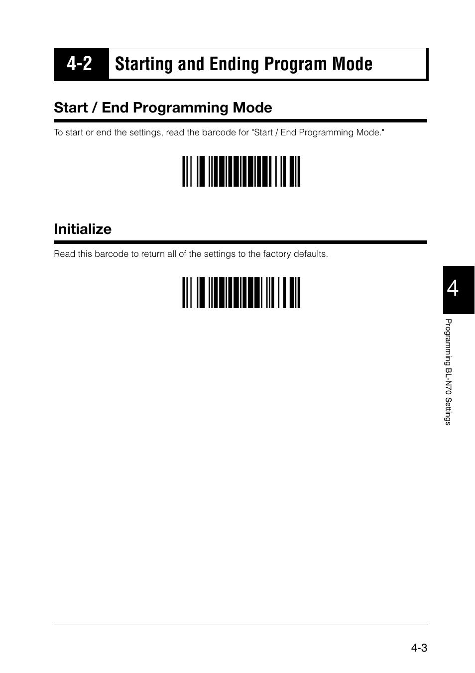 2 starting and ending program mode, Start / end programming