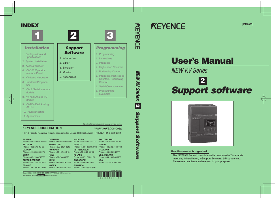 KEYENCE KV Series User Manual | 240 pages