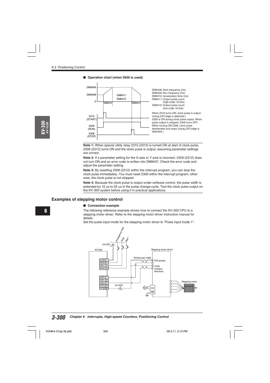 Examples of stepping motor control, Kv -300   KEYENCE Visual KV Series User  Manual   Page 324 / 392