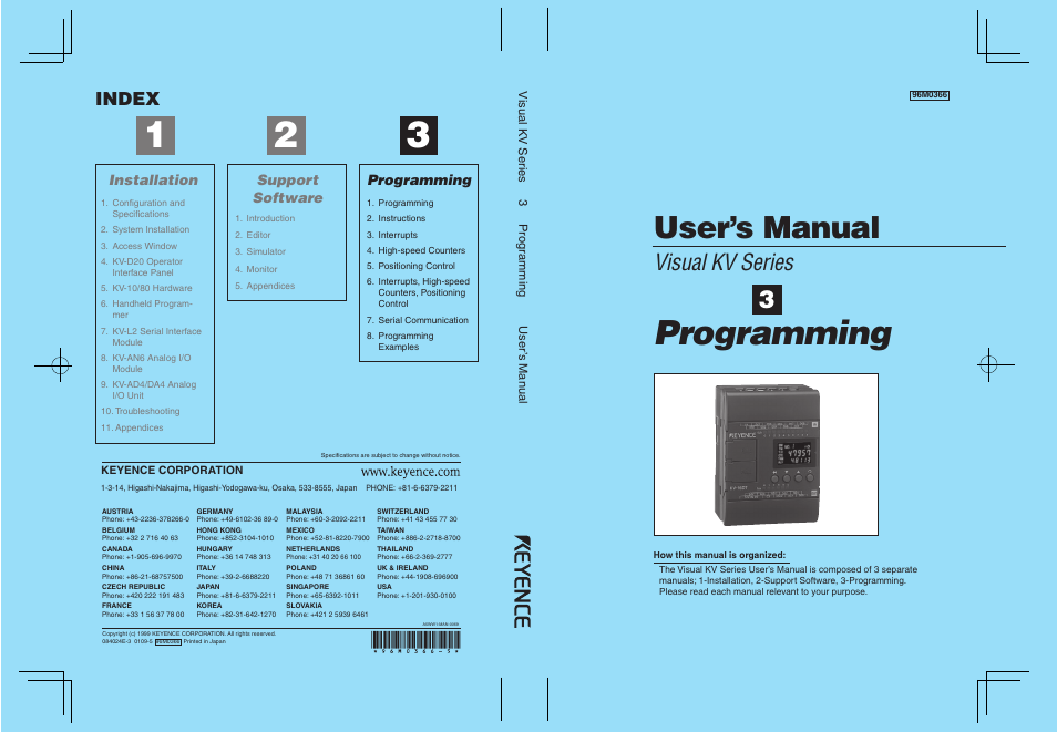 Programming, User's manual, Visual kv series | KEYENCE Visual KV