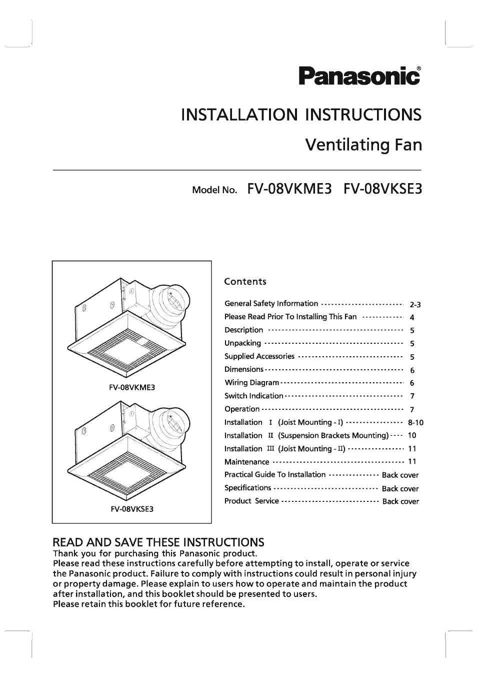 panasonic fv 08vkme3 user manual 12 pages also for fv 08vkse3 rh manualsdir com Manual Panasonic Radio Panasonic DMR ES40V Manual