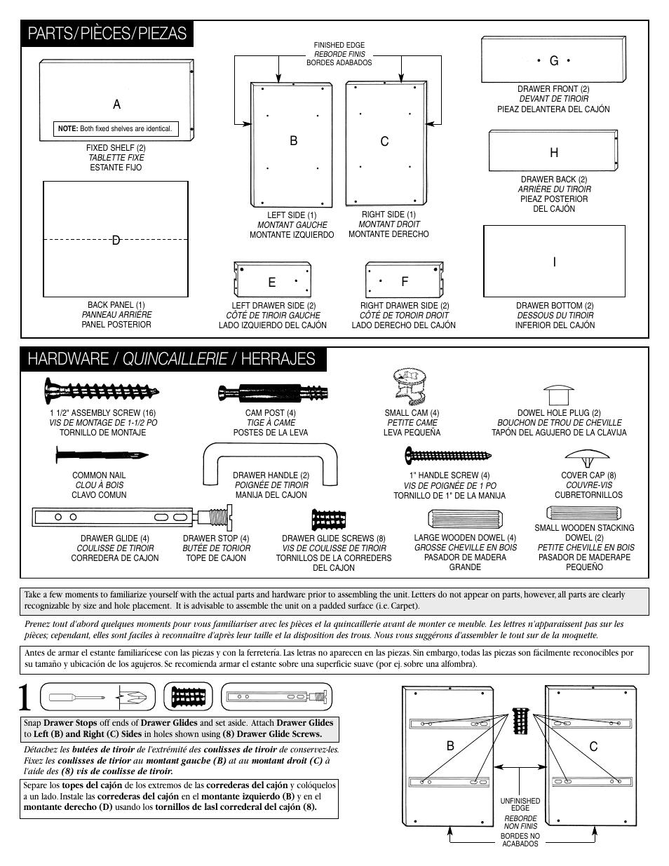 Hardware Quincaillerie Herrajes Parts Pieces Piezas Hg E F I