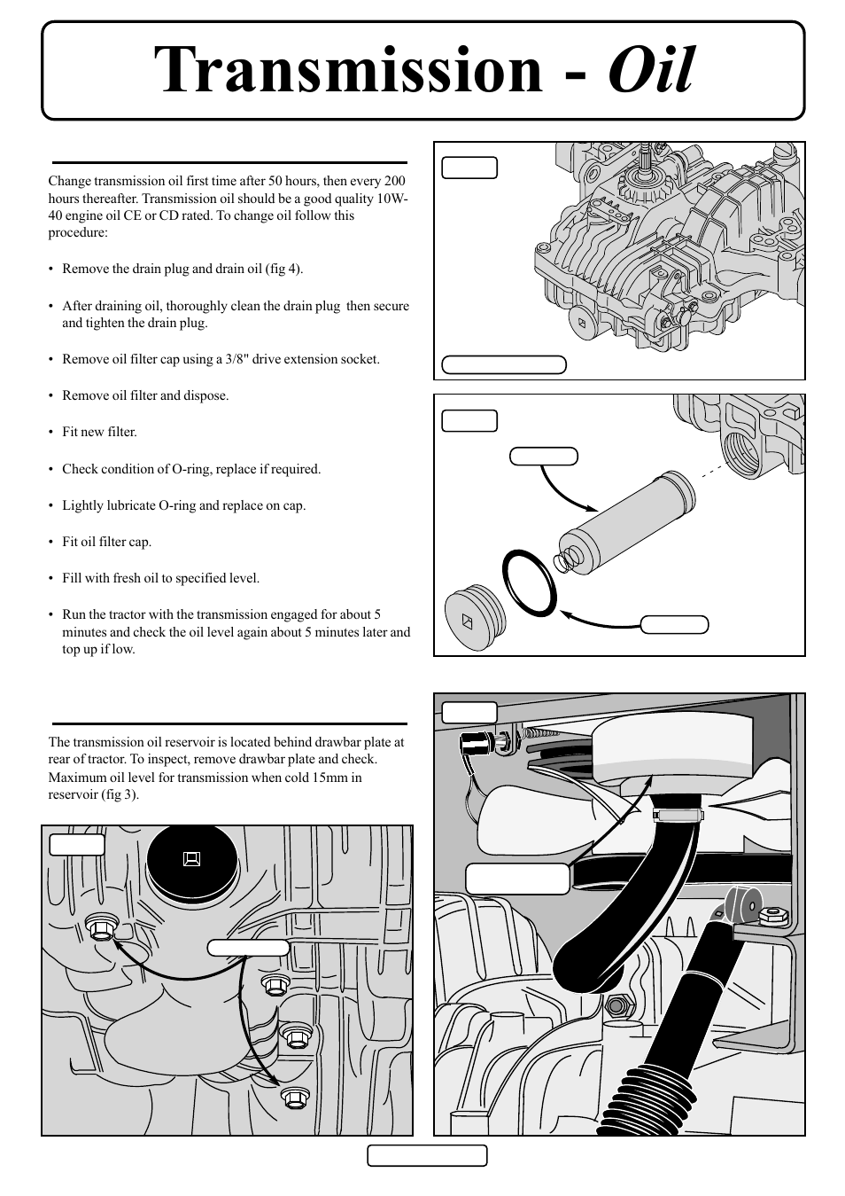Transmission - oil   Countax D50 User Manual   Page 22 / 24