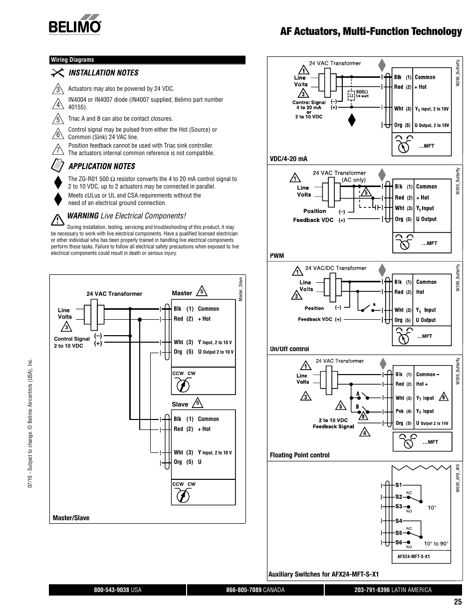 Af Actuators Multi Function Technology Warning Live Electrical Triac Valve Wiring Diagram Components Aerco Belimo F7hd Hdu Series User Manual Page 25 44