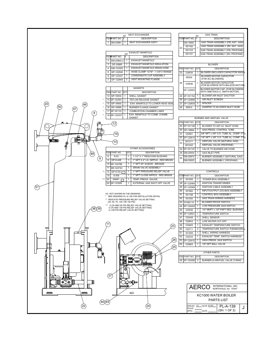 AERCO 123448 SHELL SENSOR FOR KC1000 WATER HEATER OR BOILER