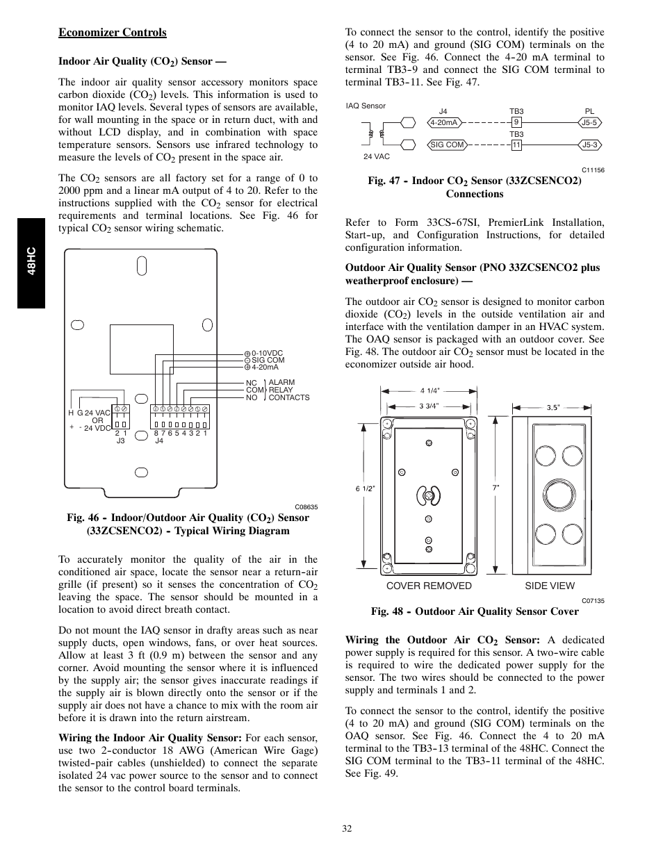 carrier single package rooftop 48hc page32 carrier 48 series economizer wiring diagram carrier wiring  at gsmx.co