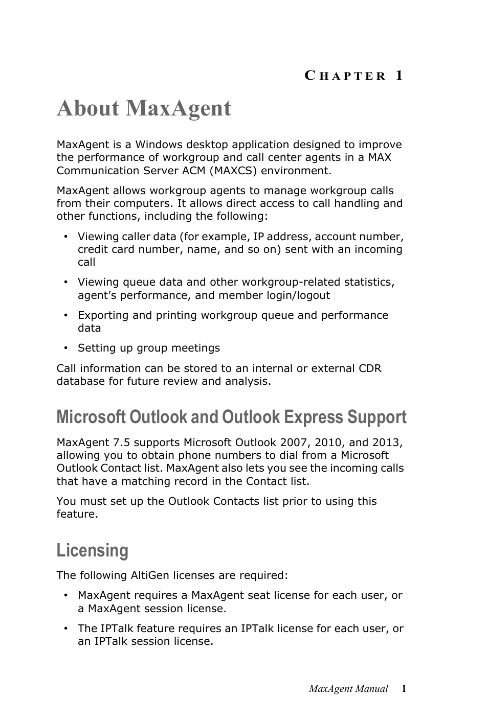 About maxagent, Microsoft outlook and outlook express
