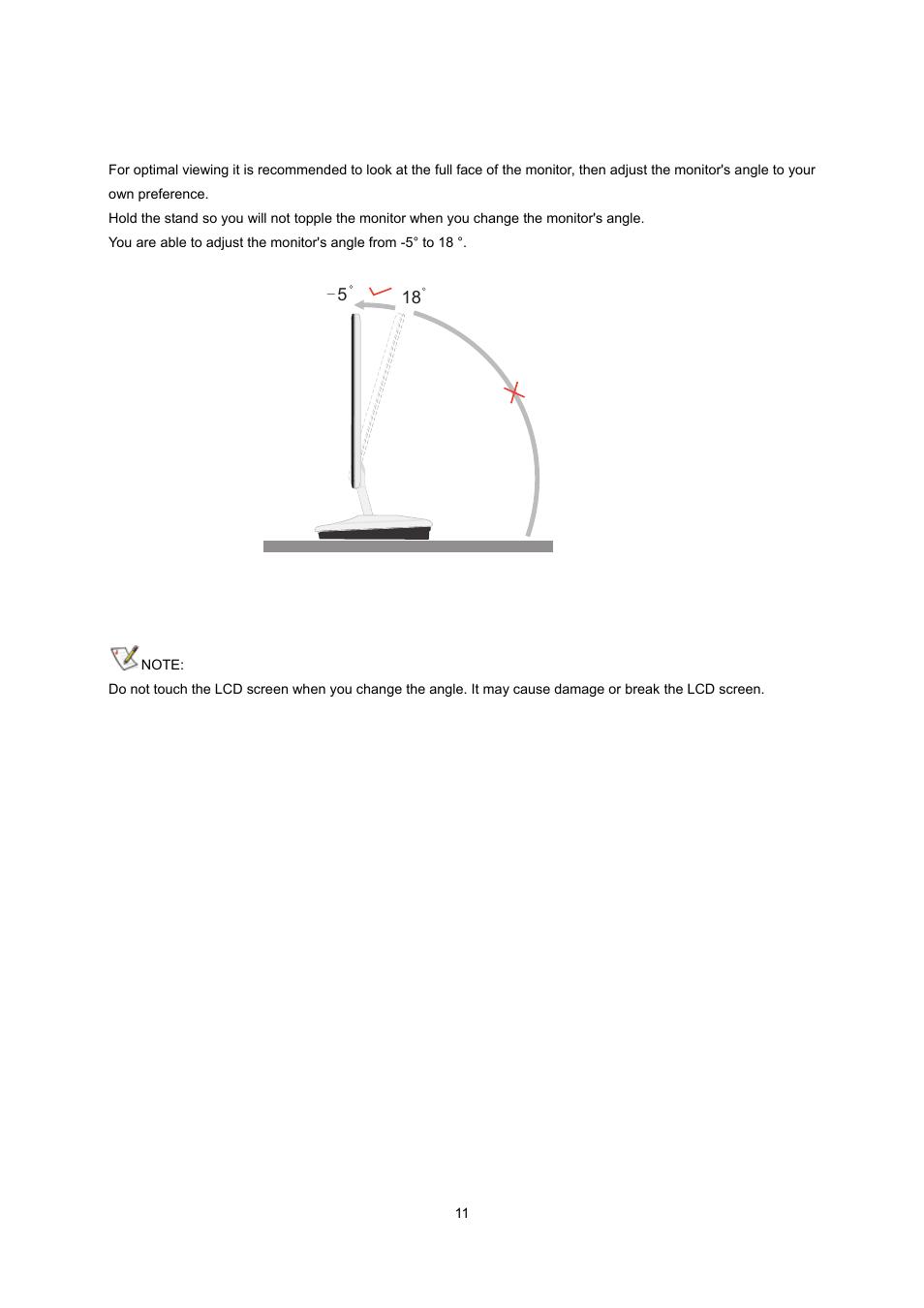 adjusting viewing angle aoc e2343fk user manual page 10 62 rh manualsdir com Operators Manual Owner's Manual