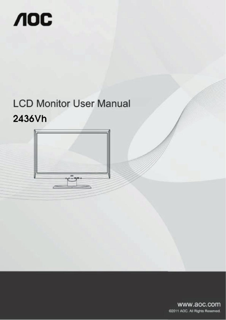 aoc 2436vh user manual 61 pages rh manualsdir com Instruction Manual Example User Manual PDF