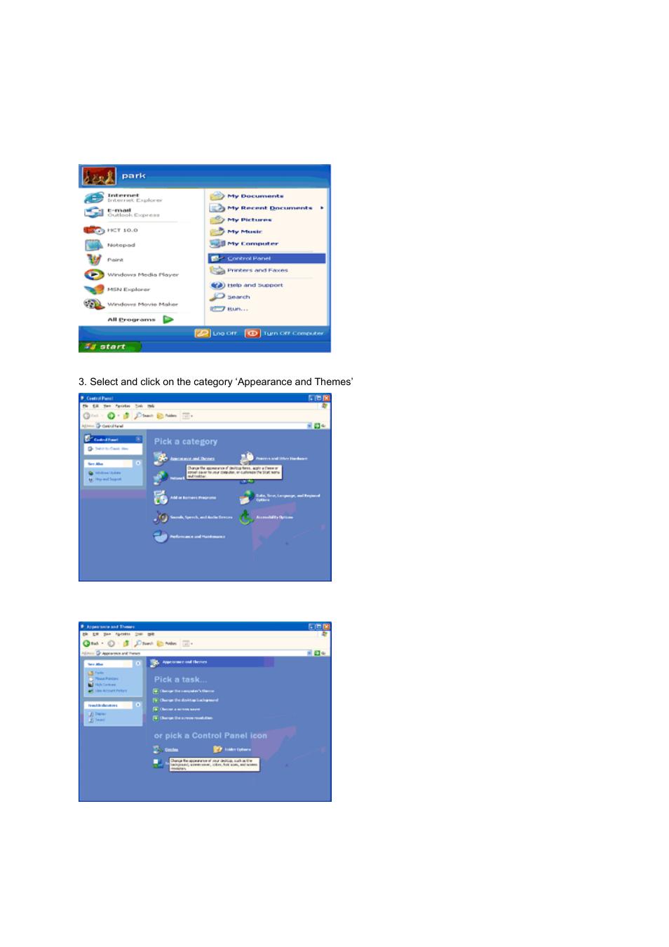 windows xp aoc 2436vw user manual page 38 61 rh manualsdir com