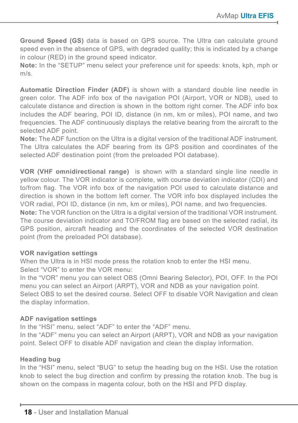 AvMap ULTRA UX0EFS2XAM User Manual   Page 18 / 24