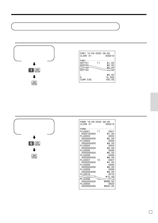 Reading The Cash Registers Program Pgm Mode Con Venient