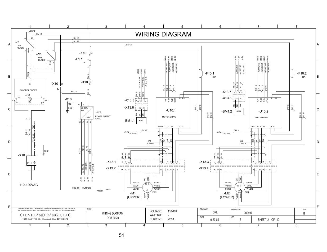 Pg 2, Wiring diagram, Cleveland range, llc | Cleveland Range ... X Wiring Diagram on