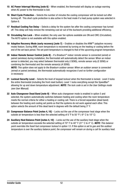 Braeburn 7320 Installer Guide User Manual   Page 12 / 16