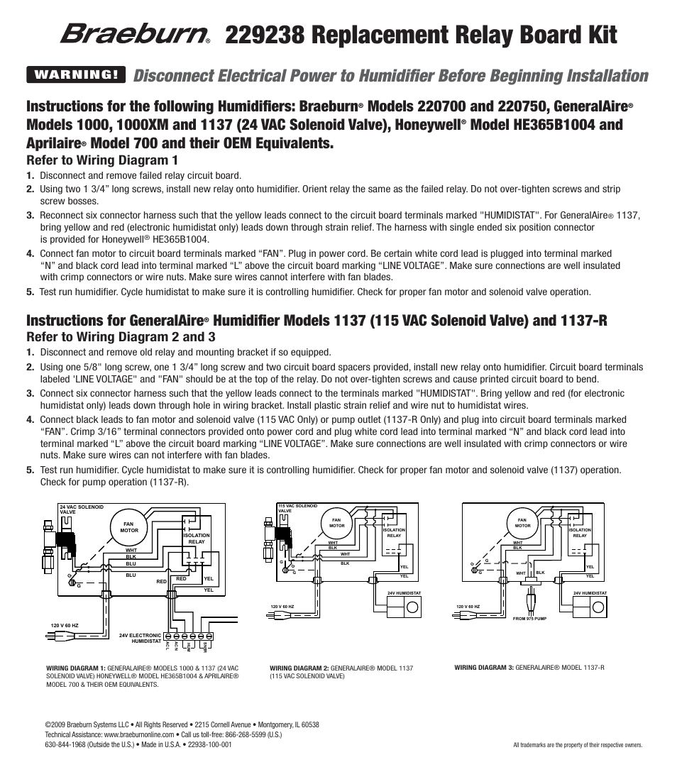 Honeywell Humidistat Wiring Diagram