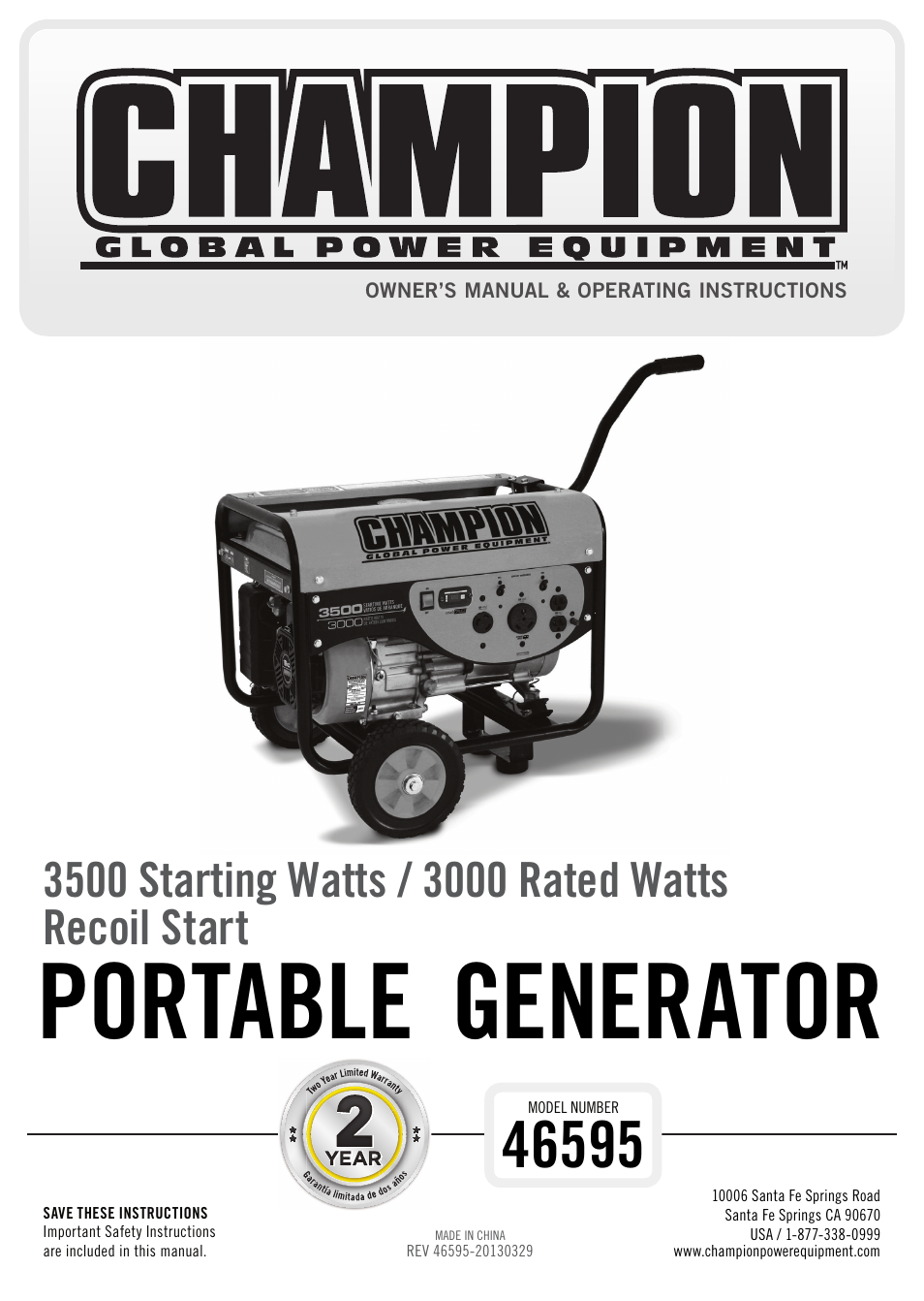 Yamaha Generator Owner S Manual