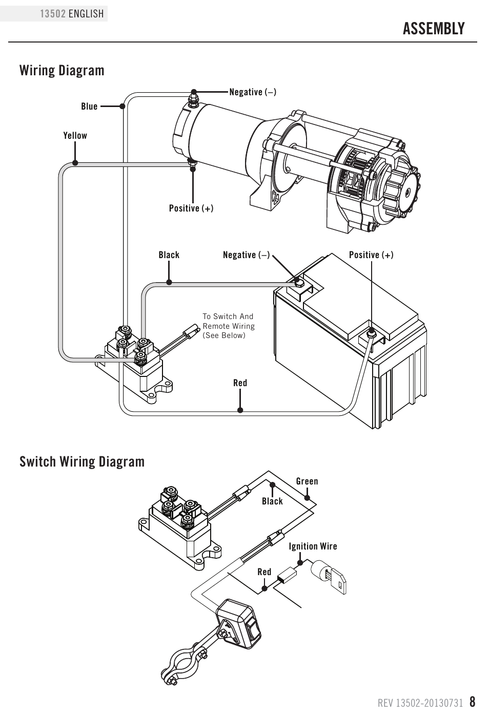 Assembly  Wiring Diagram Switch Wiring Diagram