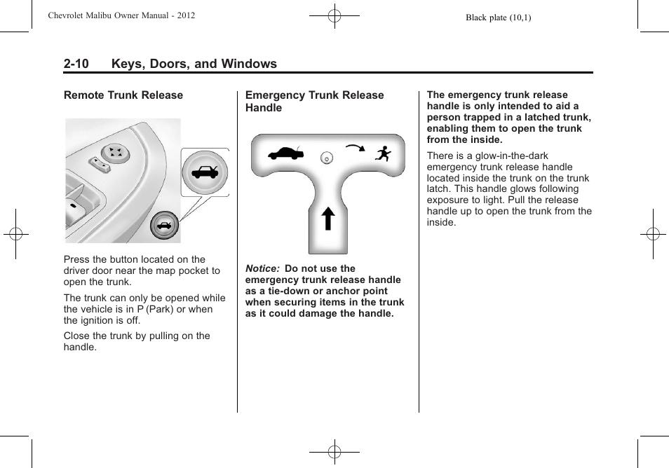 2012 malibu owners manual