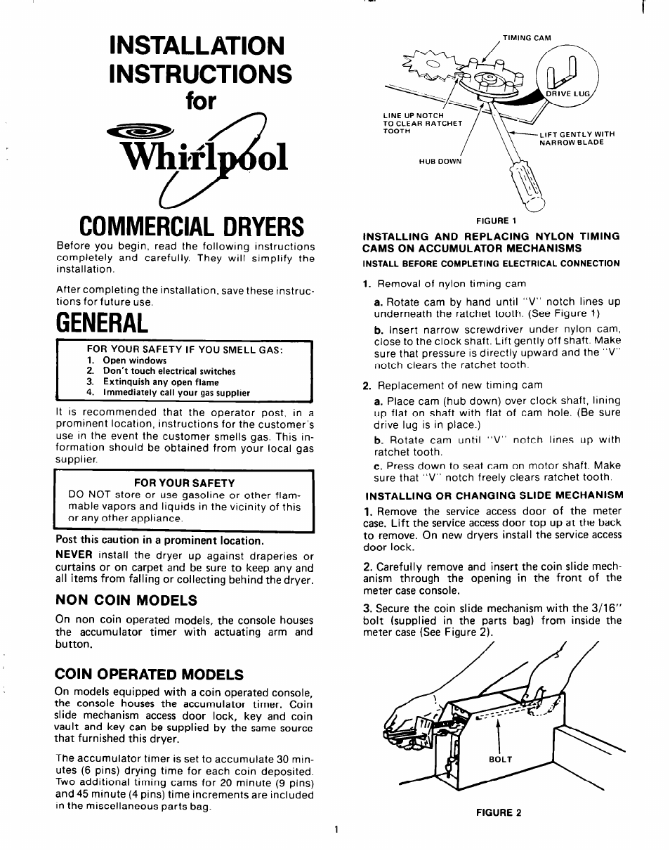 Whirlpool Clothes Dryer User Manual 8 Pages Direct Drive Motor Wiring Diagram