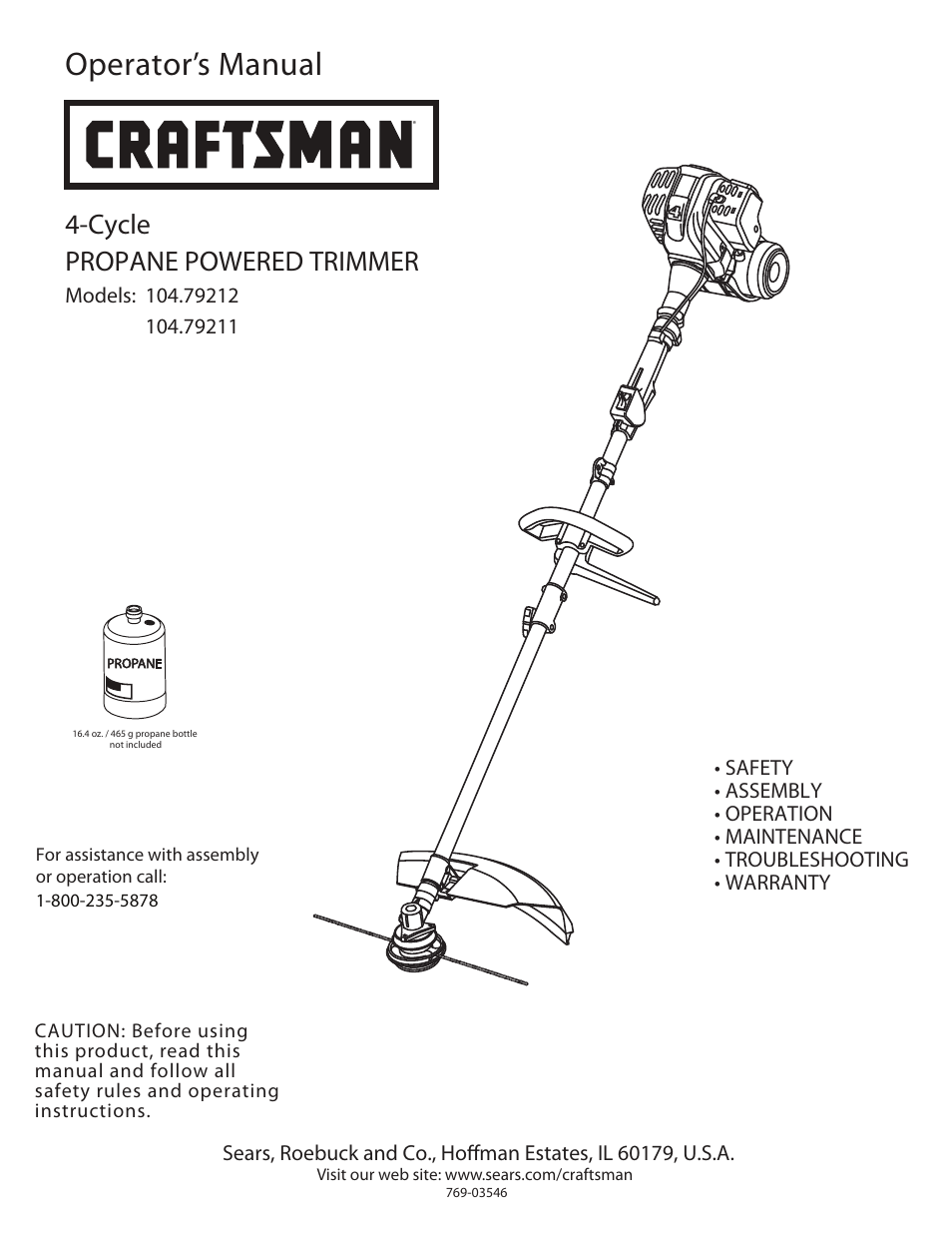 craftsman 4 cycle propane powered trimmer 104 79211 user manual 20 rh manualsdir com craftsman 4 cycle string trimmer manual craftsman 4 cycle trimmer parts diagram