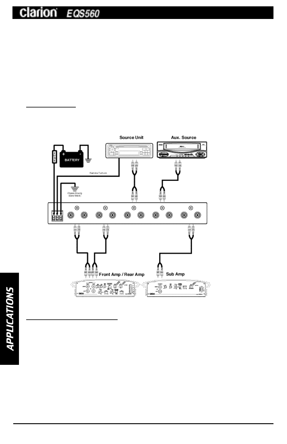Clarion Eqs560 Wiring Diagram And Schematics Double Din Home