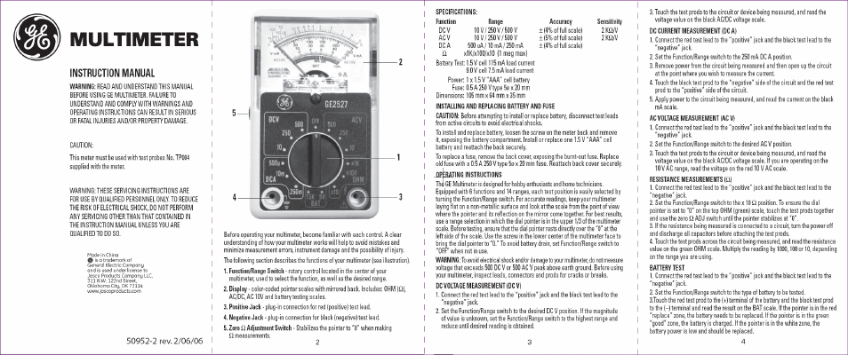 Using A Multimeter Manual Guide