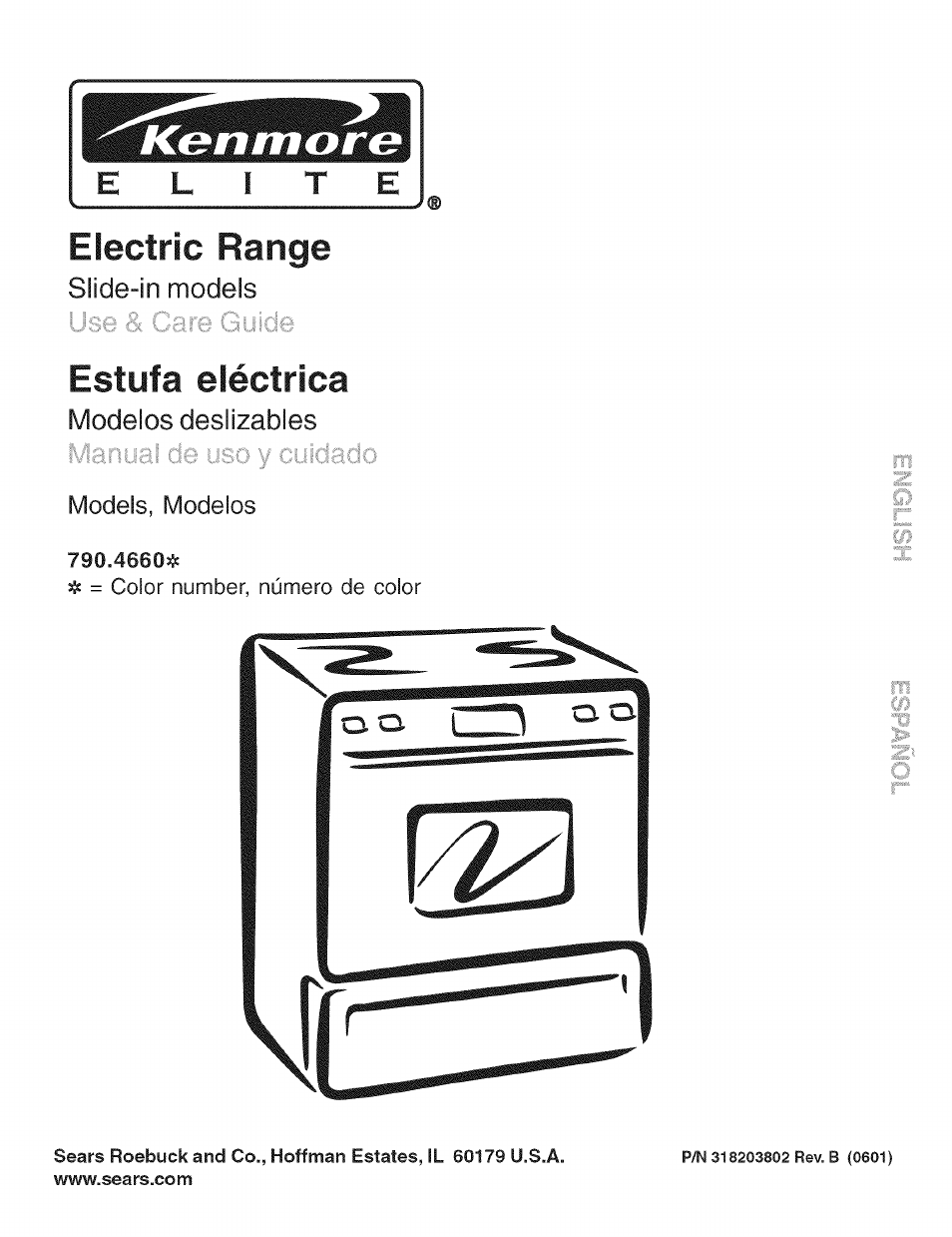 Kenmore Electric Range 790 4660 User Manual 44 Pages