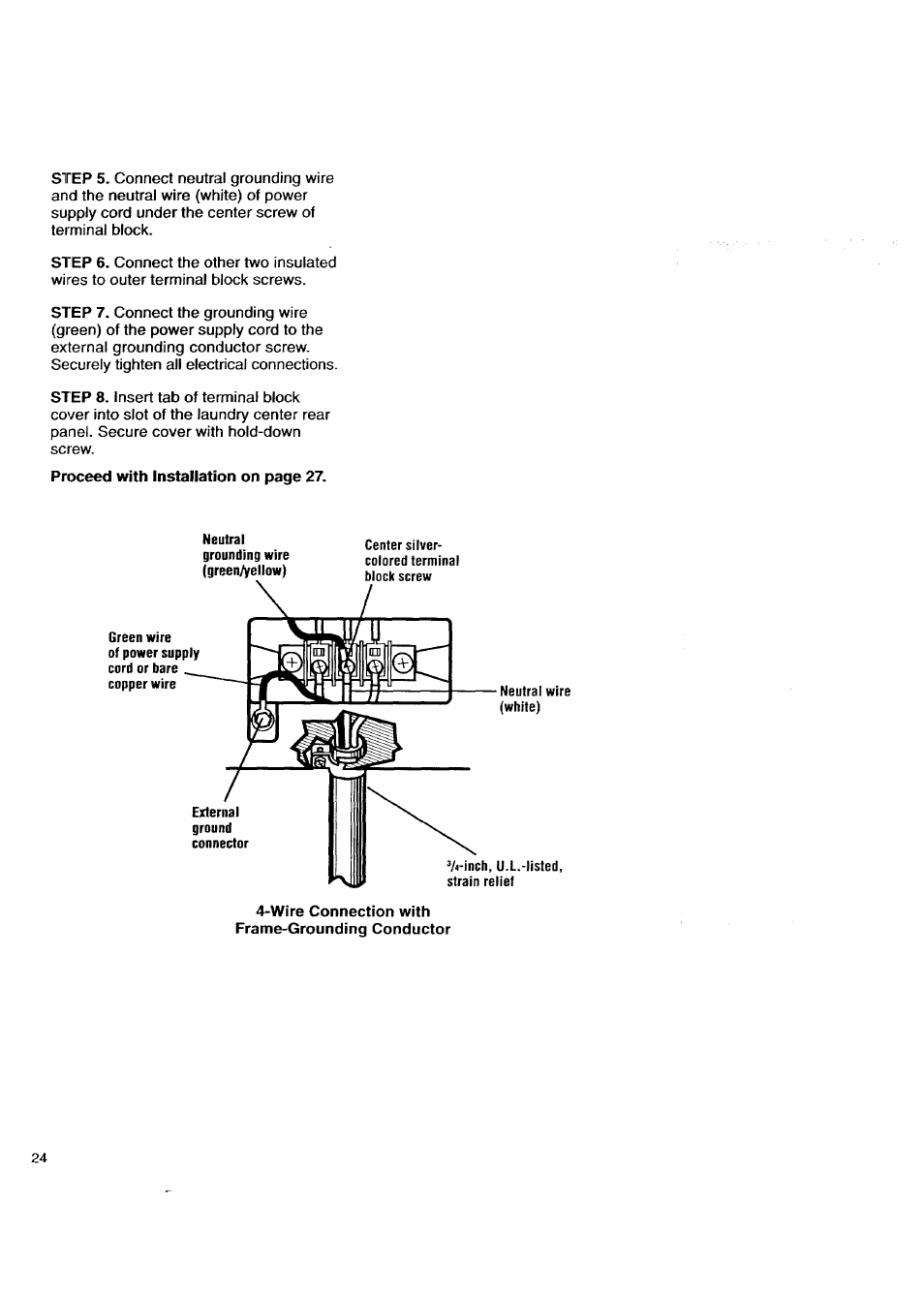 wire connection with frame grounding conductor kenmore washer rh manualsdir com
