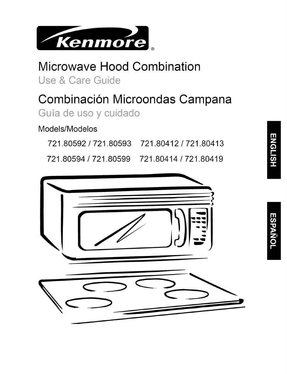 Kenmore 721.80594 User Manual | 33 pages | Also for: 721.80419, 721.80599,  721.80413, 721.80414, 721.80593, 721.80412, 721.80592