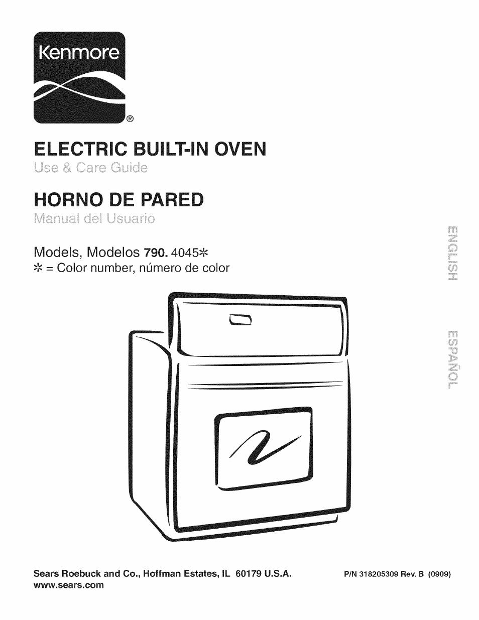 Kenmore Oven Manual Model 79042003605 Kenmore Pro Built