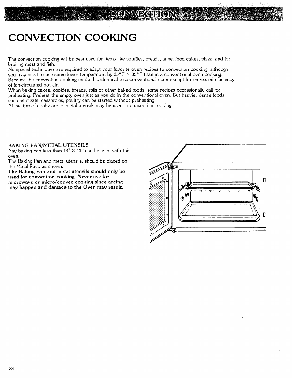 Convection cooking | Kenmore Microwave Oven User Manual | Page 34 / 60