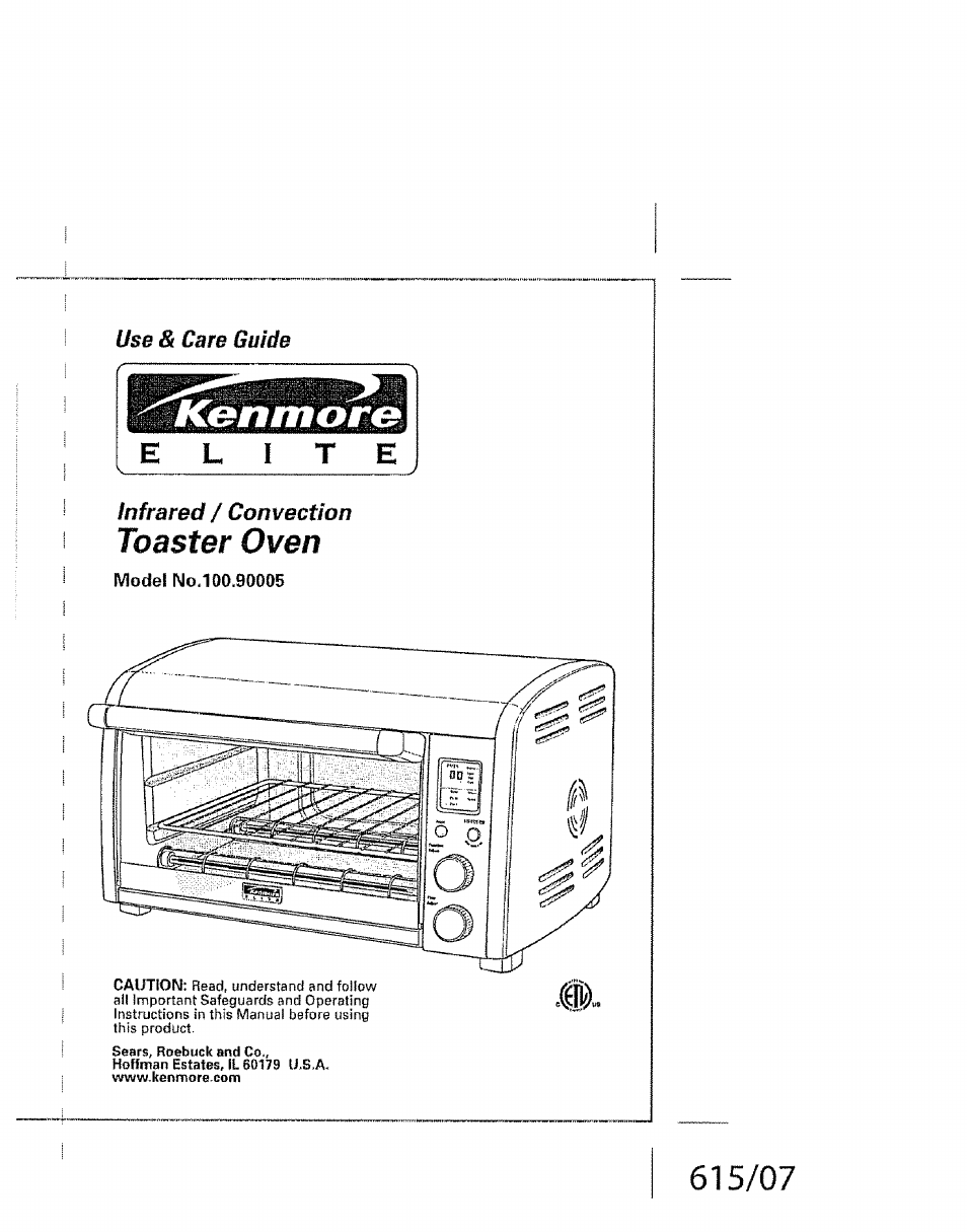 Kenmore Elite 100 90005 User Manual | 12 pages