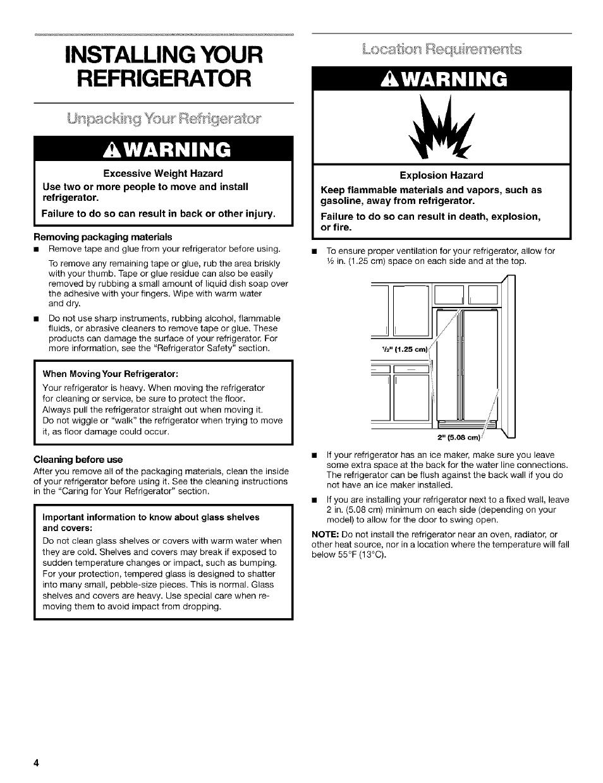 Kenmore Refrigerator 106 5 Manual - Refrigerator Images