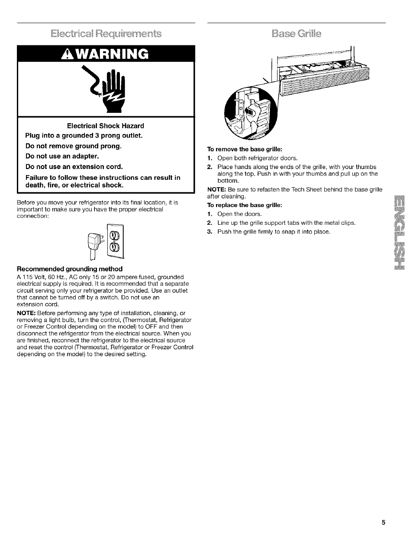 kenmore refrigerator model 106 manual