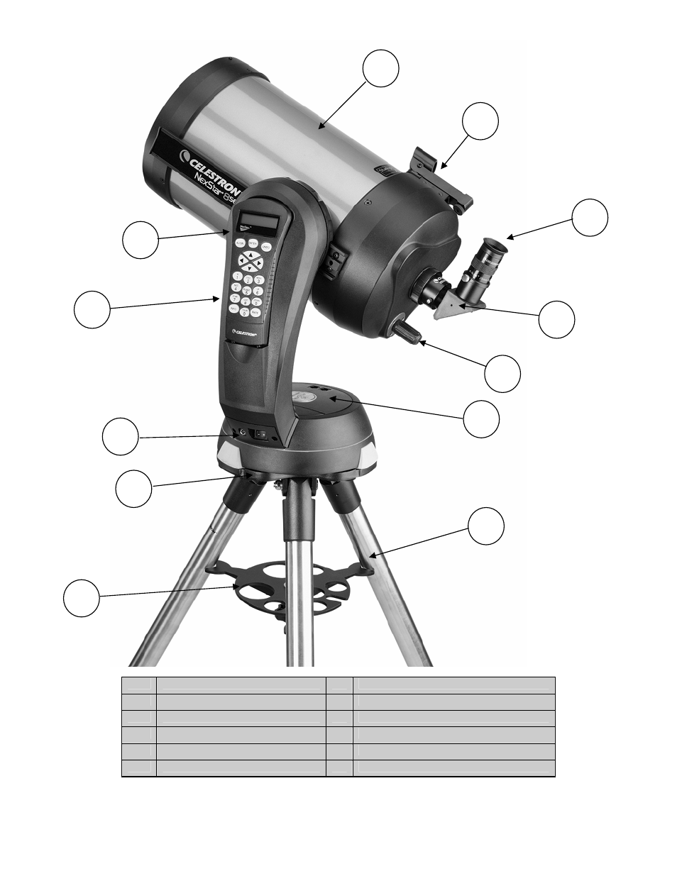 nexstar 8 se shown celestron nexstar 6 se user manual page 5 52 rh manualsdir com celestron nexstar evolution 8 manual celestron nexstar 8 se manuel