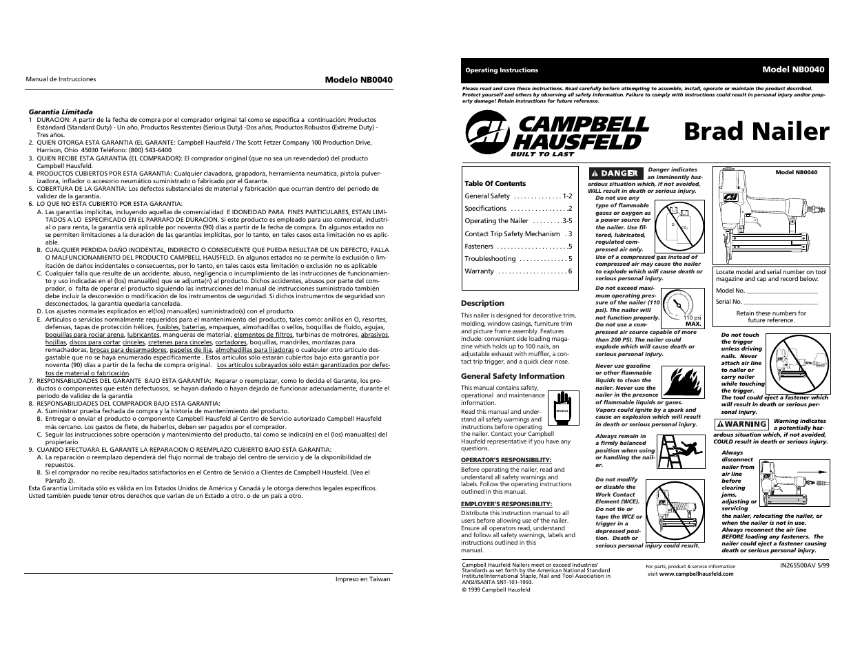 brad nailer campbell hausfeld brad nb0040 user manual page 20 rh manualsdir com campbell hausfeld finish nailer manual Campbell Hausfeld Nailer Repair