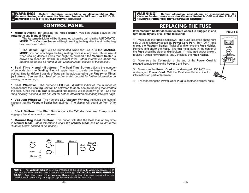 control panel replacing the fuse cabela s pro series vacuum rh manualsdir com Virginia Code 8.01 581.15 Virginia Code 8.01 229