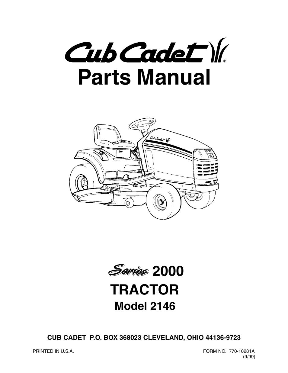cub cadet series 2000 parts manual car owners manual