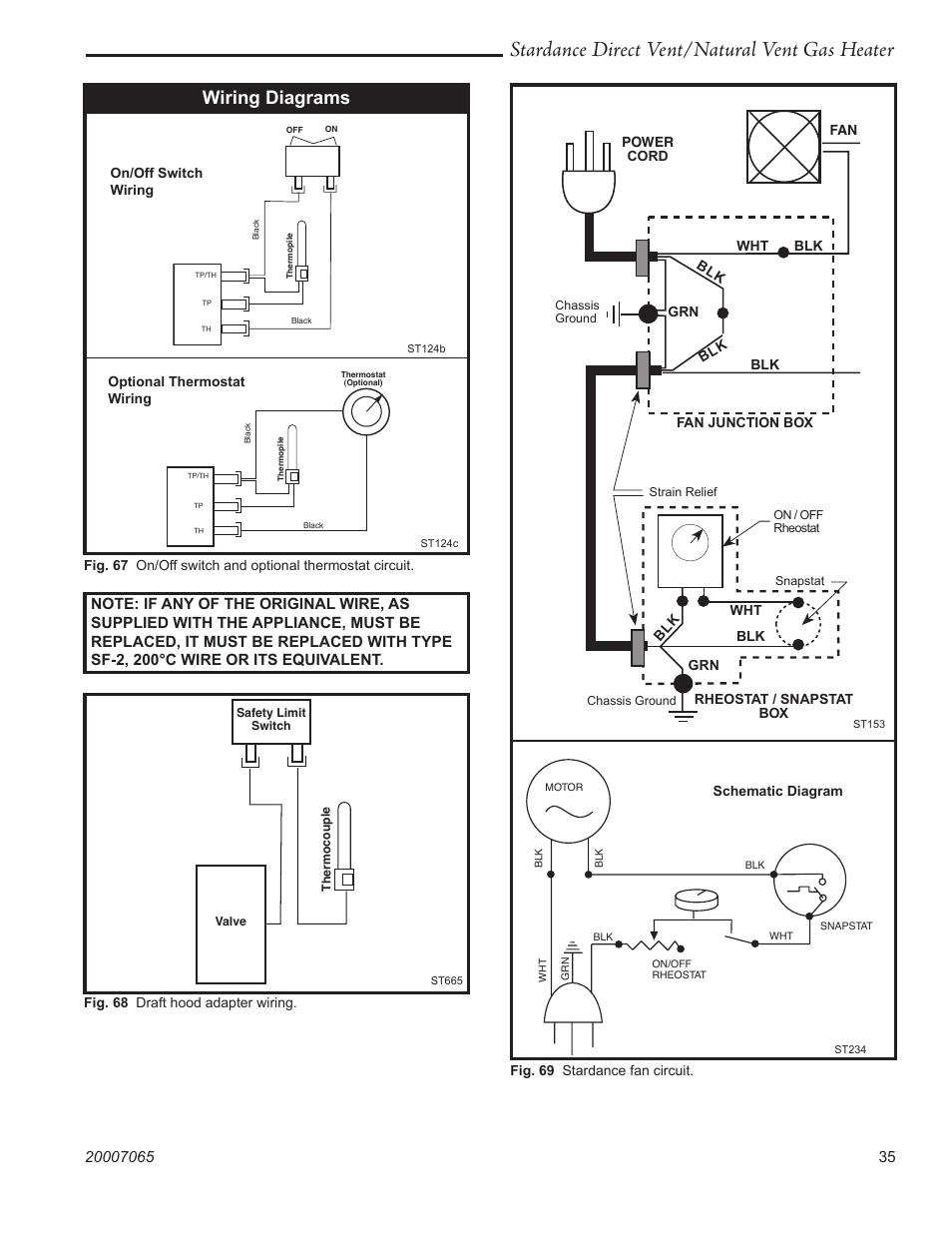 Stardance direct ventnatural vent gas    heater        Wiring    diagrams   Vermont Casting Stardance SDV30