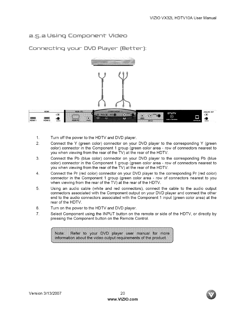 i i sinq video vizio vx32l user manual page 20 55 rh manualsdir com vizio vx32l hdtv10a user manual Vizio 32 HDTV
