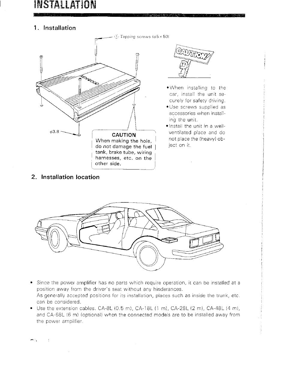 ilsstallation kenwood kac 821 user manual page 3 6 rh manualsdir com Kenwood KAC- 8405 Kenwood KAC 7005Ps