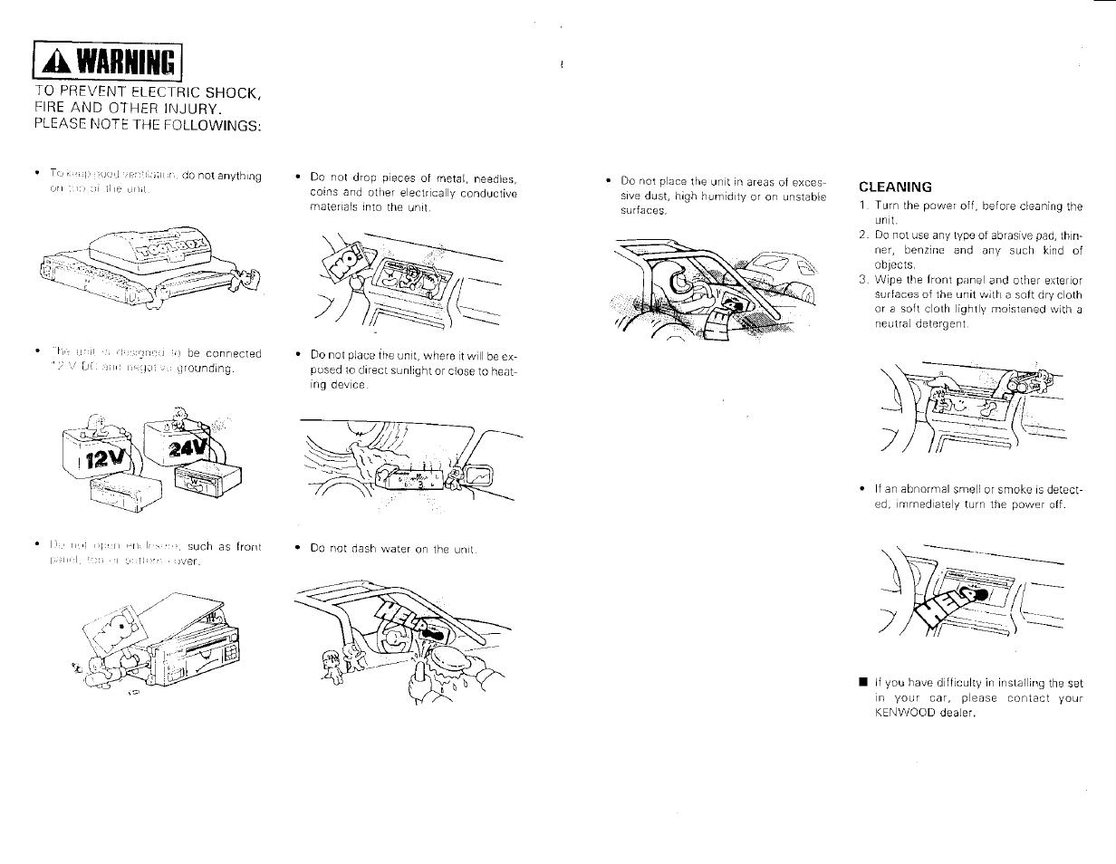 a warning kenwood kac 821 user manual page 6 6 original mode rh manualsdir com Kenwood KAC 9105D Kenwood Amp Kac Gain
